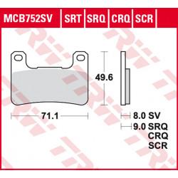 Мото накладки TRW MCB752SCR