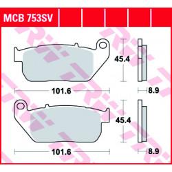 Мото накладки TRW MCB753SV