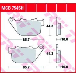 Мото накладки TRW MCB754SH