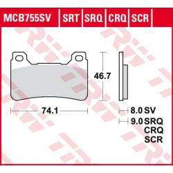 Мото накладки TRW MCB755SCR