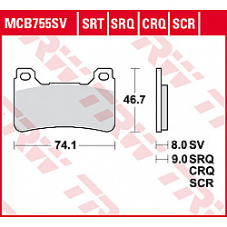 Мото накладки TRW MCB755SRQ