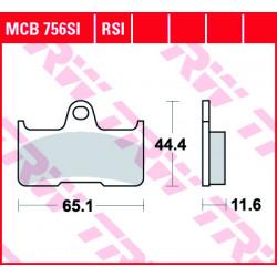 Мото накладки TRW MCB756SI