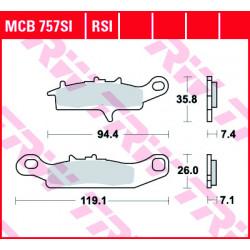 Мото накладки TRW MCB757SI