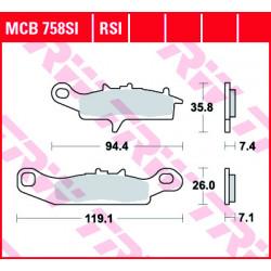 Мото накладки TRW MCB758RSI