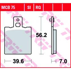 Мото накладки TRW MCB75SI