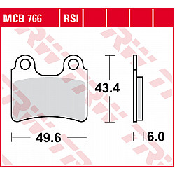 Мото накладки TRW MCB766
