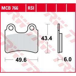 Мото накладки TRW MCB766RSI