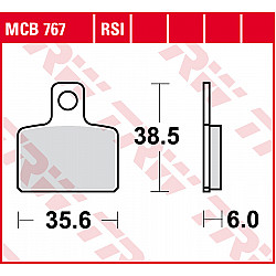 Мото накладки TRW MCB767RSI