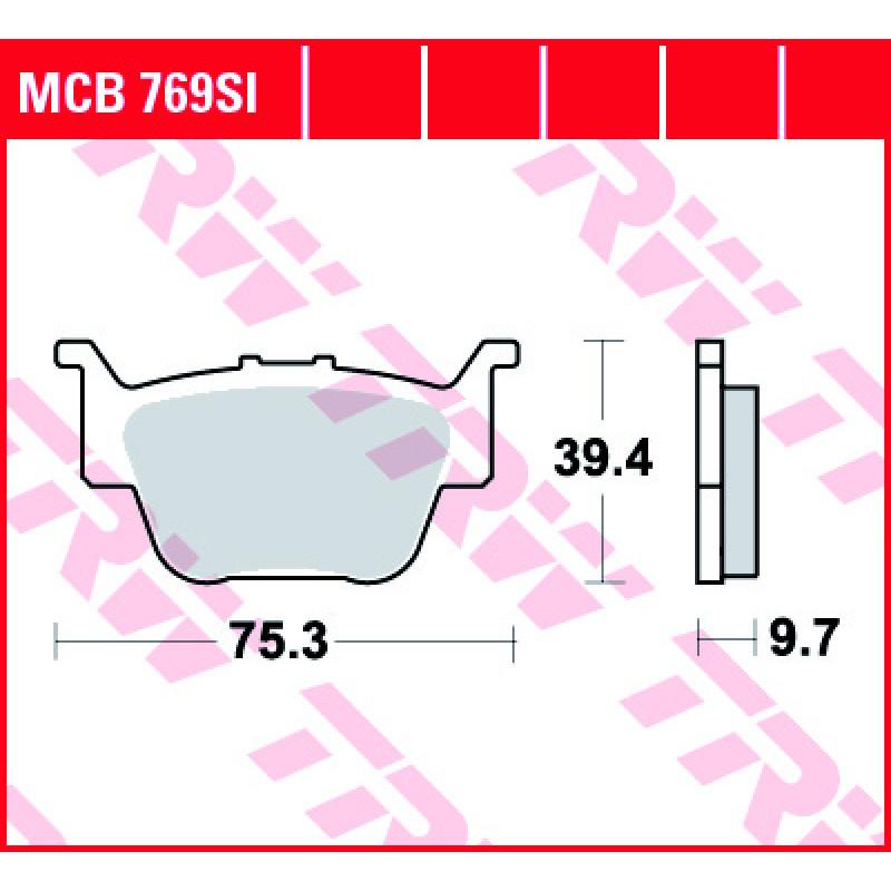 Мото накладки TRW MCB769SI