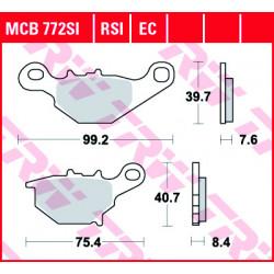 Мото накладки TRW MCB772SI