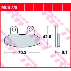 Мото накладки TRW MCB779