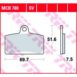 Мото накладки TRW MCB780SV