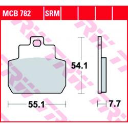 Мото накладки TRW MCB782