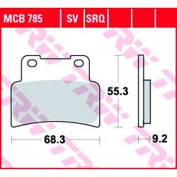 Мото накладки TRW MCB785SV