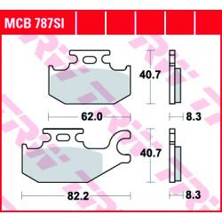 Мото накладки TRW MCB787SI