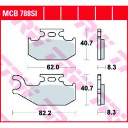 Мото накладки TRW MCB788SI