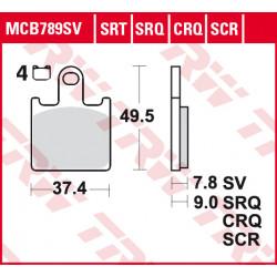 Мото накладки TRW MCB789SV