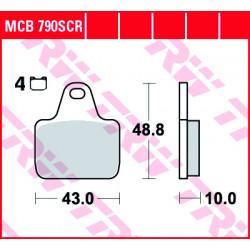 Мото накладки TRW MCB790SCR