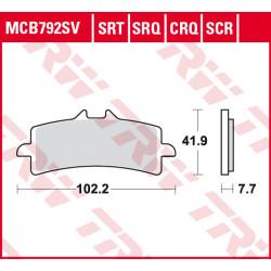 Мото накладки TRW MCB792SCR