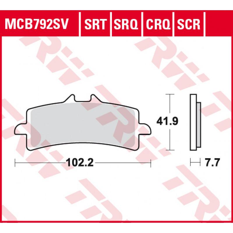 Мото накладки TRW MCB792SV