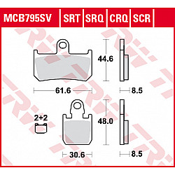 Мото накладки TRW MCB795SCR