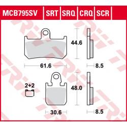 Мото накладки TRW MCB795SRQ