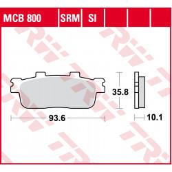 Мото накладки TRW MCB800