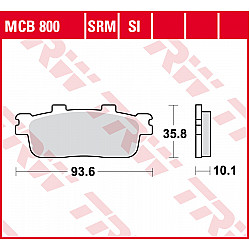 Мото накладки TRW MCB800SRM
