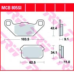 Мото накладки TRW MCB805SI