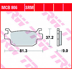 Мото накладки TRW MCB806SRM