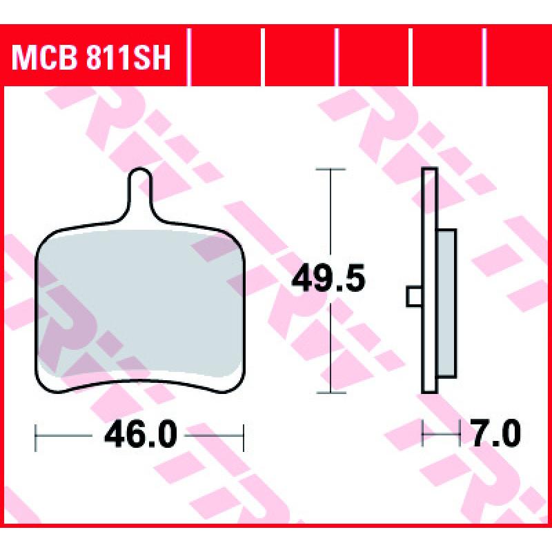 Мото накладки TRW MCB811SH