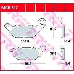 Мото накладки TRW MCB812