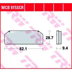 Мото накладки TRW MCB815SCR