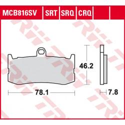 Мото накладки TRW MCB816SV