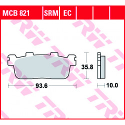 Мото накладки TRW MCB821SRM