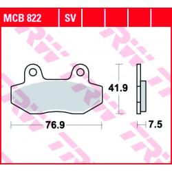 Мото накладки TRW MCB822