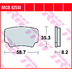 Мото накладки TRW MCB825SI