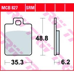 Мото накладки TRW MCB827