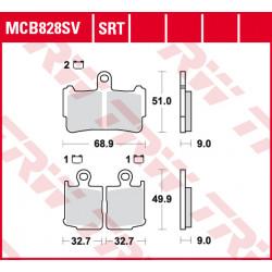 Мото накладки TRW MCB828SV