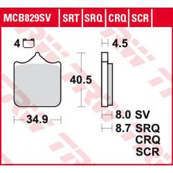 Мото накладки TRW MCB829SV