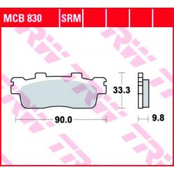 Мото накладки TRW MCB830