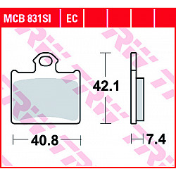 Мото ннакладки TRW MCB831SI