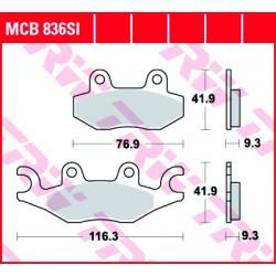 Мото накладки TRW MCB836SI