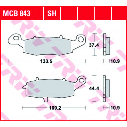 Мото накладки TRW MCB843SH