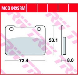 Мото накладки TRW MCB849SRM