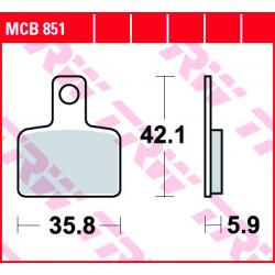 Мото накладки TRW MCB851