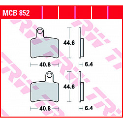 Мото накладки TRW MCB852