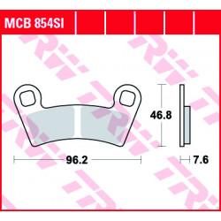 Мото накладки TRW MCB854SI