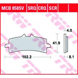 Мото накладки TRW MCB858SCR