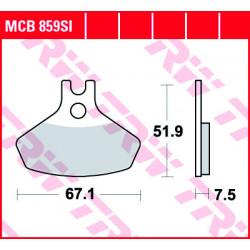 Мото накладки TRW MCB859SI